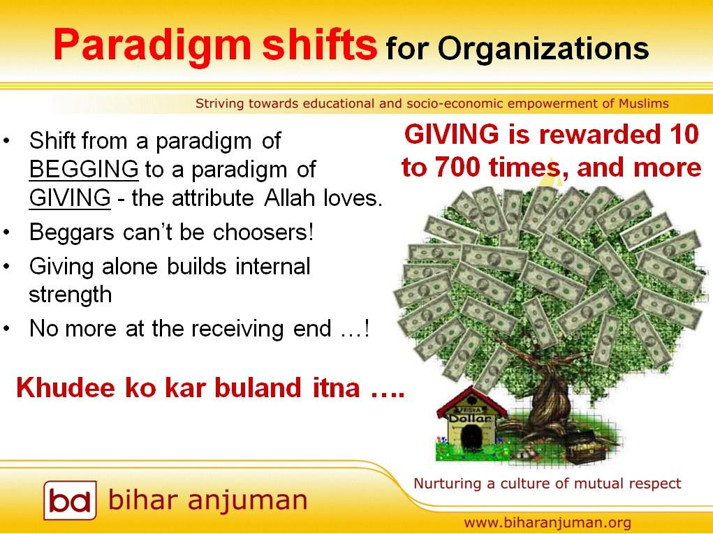 paradigm shift that biharanjuman wants to bring about