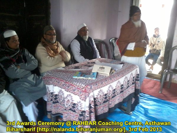 RAHBAR Coaching Center, Nalana @ Asthawan: 3rd Awards Ceremony,3rd February 2013