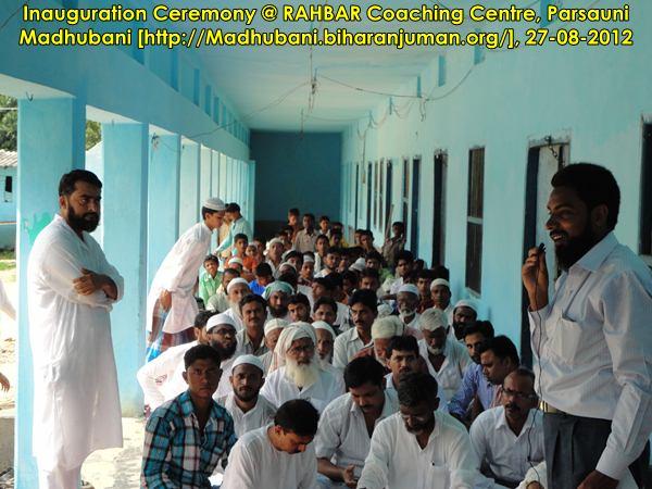 Inauguration Ceremony of RAHBAR Coaching Center, Madhubani @ Parsauni