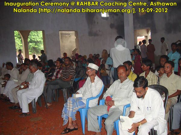 RAHBAR Coaching Center, Nalana @ Asthawan: Inauguration Ceremony, 15th September 2012