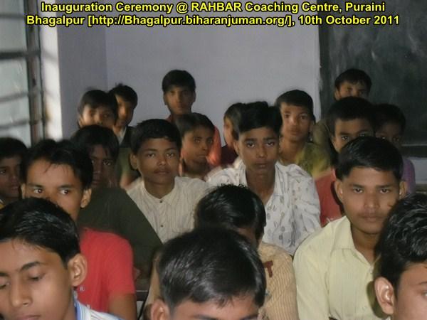 RAHBAR Coaching Center, Bhagalpur: Inauguration Ceremony, 10-10-2011