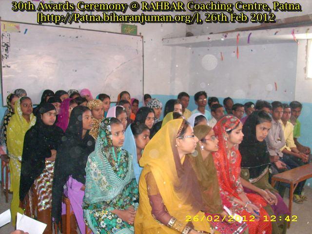 RAHBAR Coaching Centre, Patna; 29th awards ceremony, 30th awards ceremony, 26th  Feb 2012