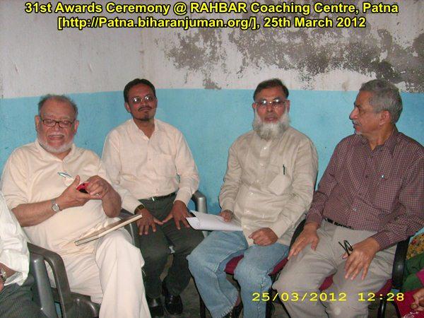 RAHBAR Coaching Centre, Patna: 31st awards ceremony, 25th  March 2012
