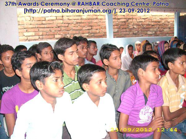 RAHBAR Coaching Centre, Patna: 37th awards ceremony, 23rd September 2012