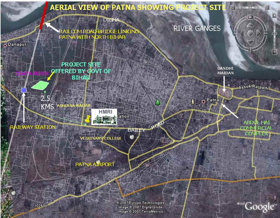 satellite view in india