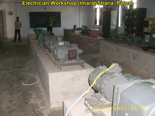 A view of the Electrician Workshop @ Imarat Sharia, Patna