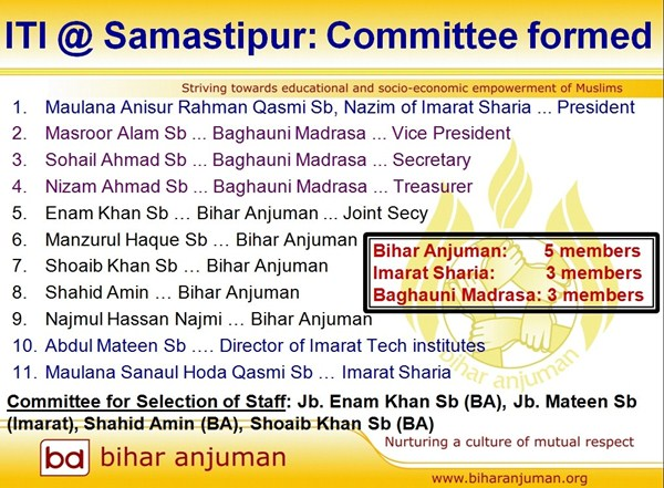 RAHBAR ITI @ Samastipur: Management Committee